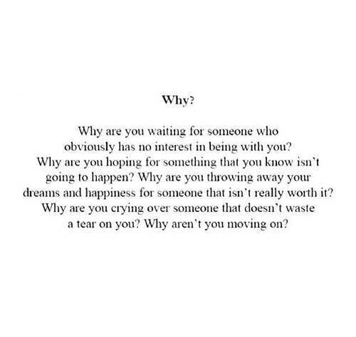 why you care about someone